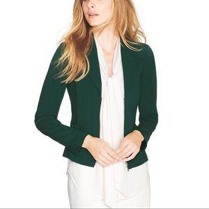 WHite House Black Market | Green Moto Zip Jacket